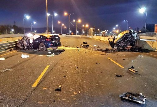 'Wrong way': Serious crash on QEW in Burlington sends 2 to hospital and causes major closure