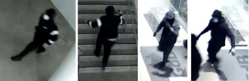 Toronto police are hunting for suspects who broke into a Yorkville art gallery and stole four pieces of art