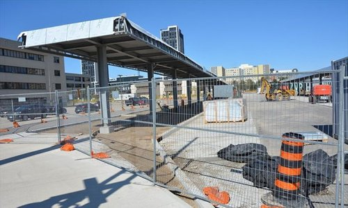 WHAT'S GOING ON HERE?: 18 bus bays, 7 'unique' shelter canopies and a new road in Waterloo