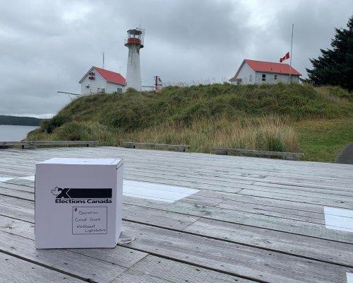 Election official, who runs chocolate shop, flies ballot box to 27 B.C. lighthouses.