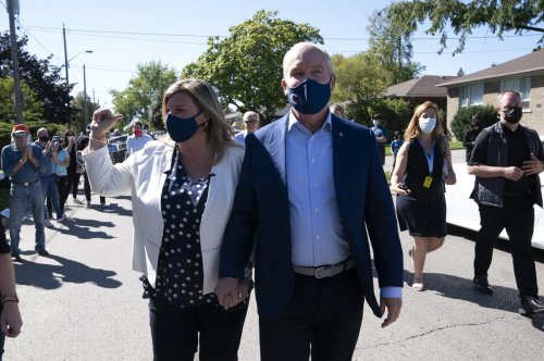 Erin O'Toole dodges questions as Conservatives roll through the 905