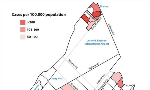 COVID-19 MAP: Just 41 of Mississauga's 136 neighbourhood zones remain hot spots in June 11 update