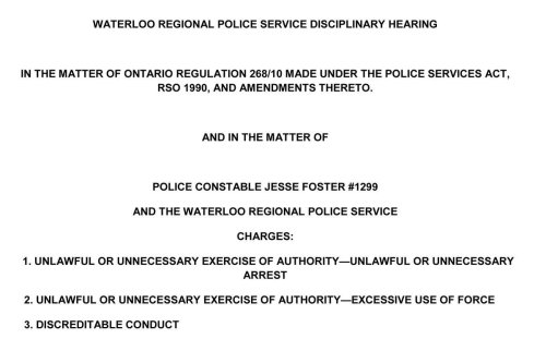 'Inadequate' training cited in violent, unlawful arrest by Waterloo Regional Police officer