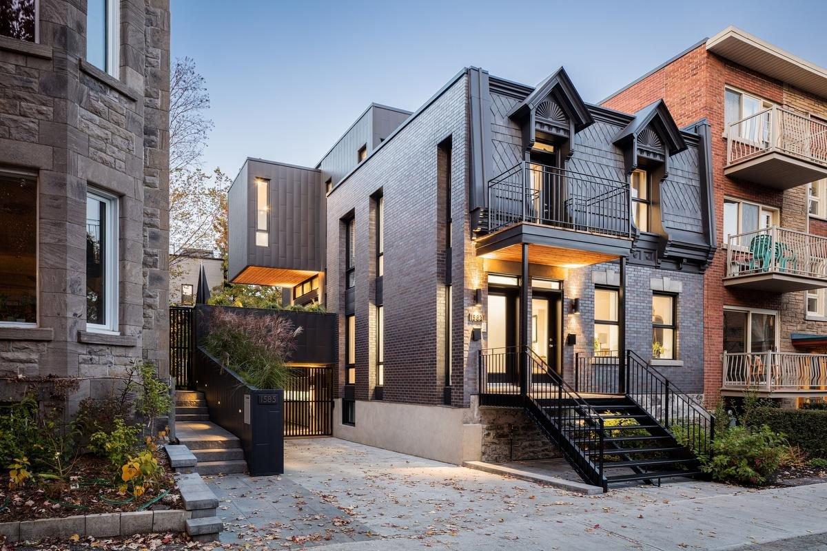 Opposites attract in $2.5-million update of historic Montreal duplex