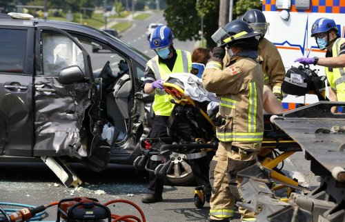 Photos: Van, tow truck in Peterborough crash