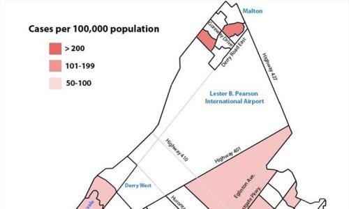 COVID-19 MAP: 38 hot spots identified in Mississauga in region's Sep. 24 neighbourhood zone update
