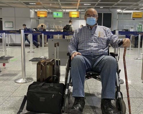 Local retiree goes to Lithuania for surgery to replace left knee