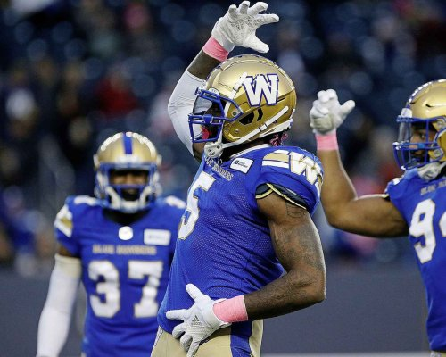 Bombers trounce Lions 45-0, clinch top spot in West
