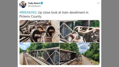 Several train cars derailed in South Carolina as crews investigate, officials say