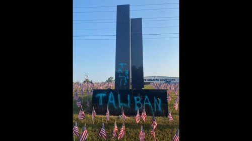 Vandal who spray painted 'Taliban' on 9/11 memorial was caught on video, SC cops say