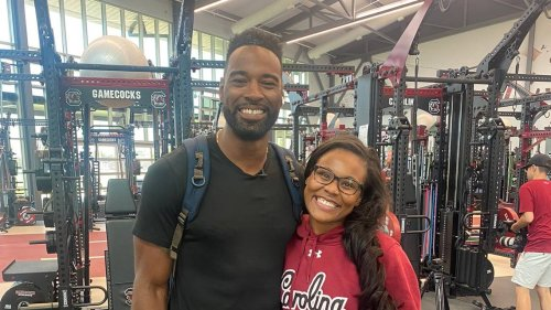 Why a Hall of Fame receiver paid a visit to South Carolina football program