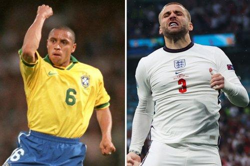 Roberto Carlos hails Luke Shaw as best player of Euro 2020 and laughs at Man Utd star's 'Shawberto Carlos' nickname