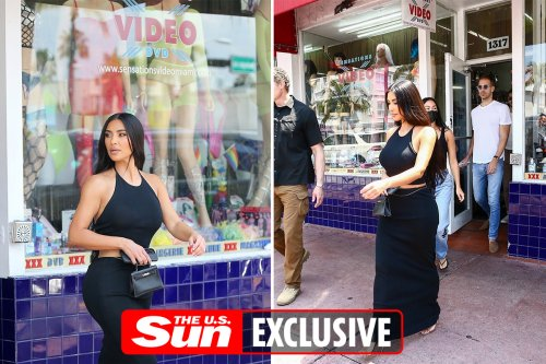 Kim sneaks into sex shop & picks up bag of goodies during divorce from Kanye