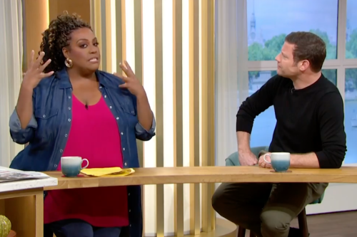 Dermot O'Leary red-faced after asking Alison how she styles her FAKE hair