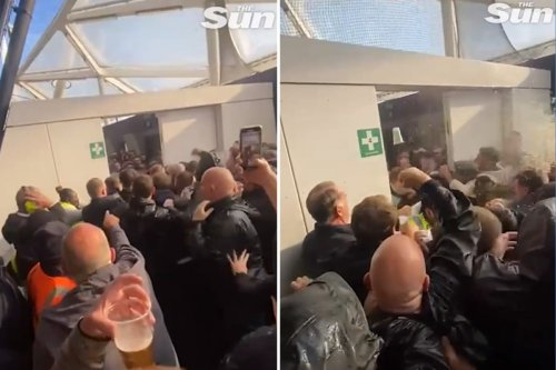 Spurs & West Ham fans clash in ugly scenes at London Stadium
