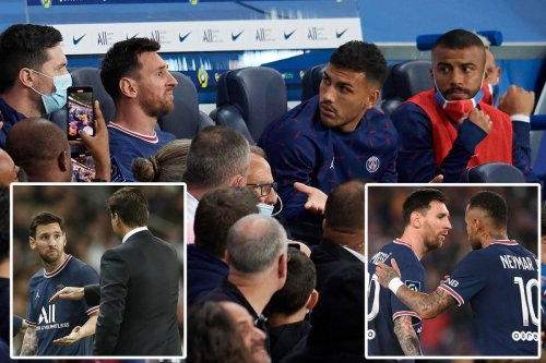 Lionel Messi not impressed as he's SUBBED OFF in PSG's 2-1 win over rivals Lyon