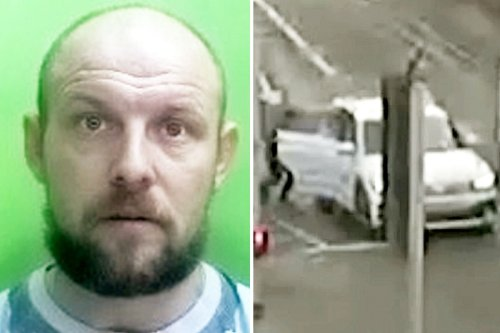 Moment mugger sneaks into woman's car at lights before robbing her