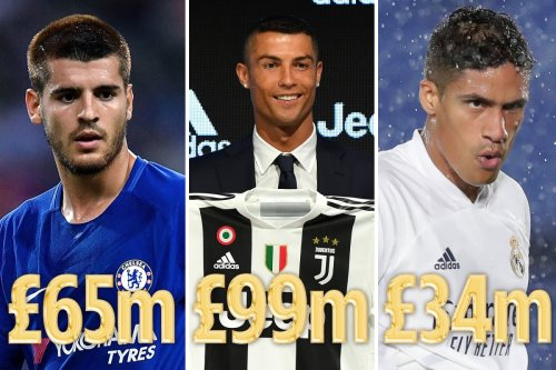 Real Madrid's top 10 most expensive sales revealed with Raphael Varane ninth
