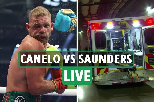 Canelo Alvarez vs Billy Joe Saunders LIVE RESULTS: Mexican sends Saunders to hospital with horror 'fractured eye socket'