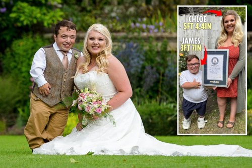 Married couple win title of biggest height difference in the world - 1ft 10n