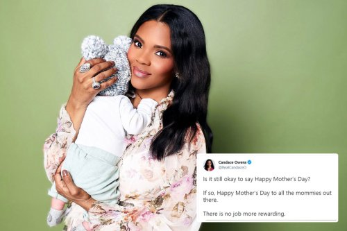 Candace Owens trolls 'woke' left asking if 'it's still ok to say Happy Mother's Day' with ADORABLE pic of baby son