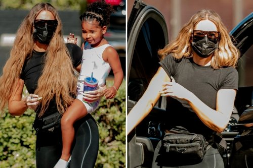 Khloe ditches diamond ring as she steps out with daughter after Tristan split