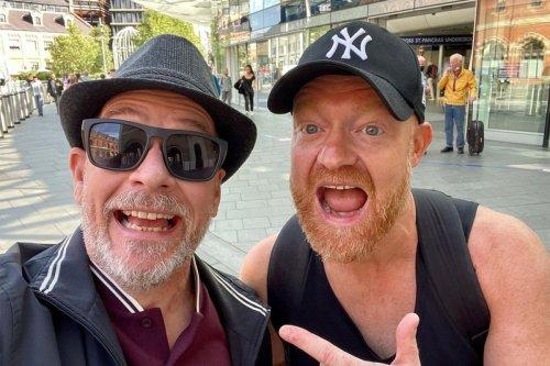 EastEnders surprise reunion as Ian Beale star Adam Woodyatt runs into Jake Wood in London