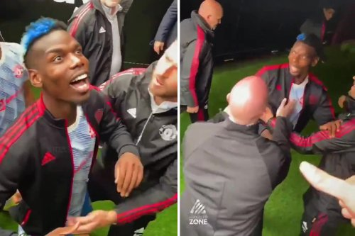 Watch Pogba get dragged down tunnel by Carrick after West Ham fans abuse him