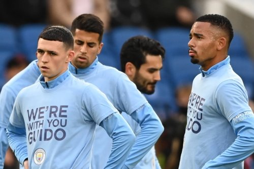 Foden wears t-shirt in tribute to Man City fan fighting for life after attack