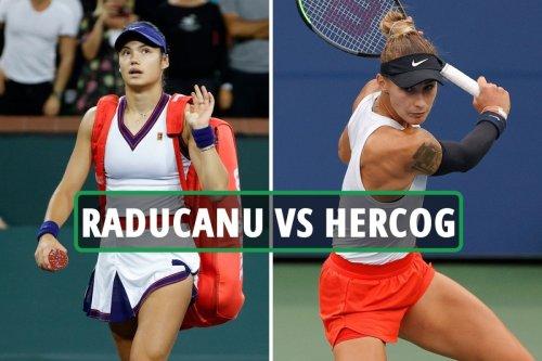 Emma Raducanu vs Polona Hercog LIVE: Latest updates from Transylvania Open