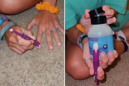 Woman reveals the 'genius' way she remove nail polish using a tampon