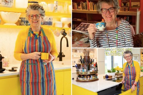 Inside Bake Off star Prue Leith's incredible new home with bright yellow kitchen