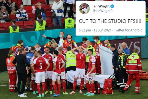 Ian Wright slams BBC for not cutting away from Christian Eriksen collapse