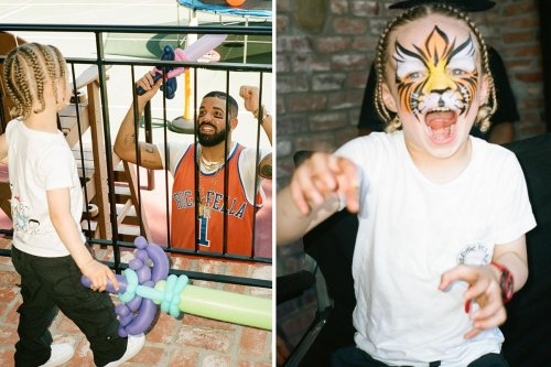 Inside Drake's lavish party for his son Adonis, 3, with face paints and ball pit