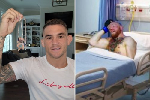 Poirier gets 'Sleepy McGregor' necklace from Jake Paul but will sell for charity
