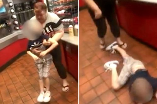 Mom slams autistic boy, 9, to the ground at gas station before punching witness