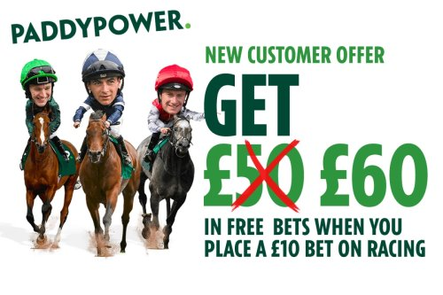 Horse racing free bets: Get £60 in FREE BETS with Paddy Power this weekend