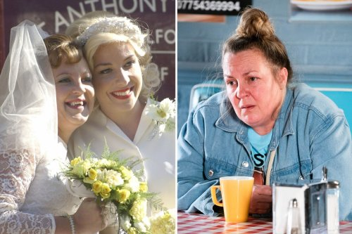 EastEnders' Lorraine Stanley unrecognisable as Big Mo in flashback episode