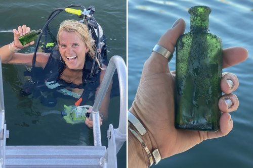 Mum finds 100-year-old message in a bottle & makes contact with author's family