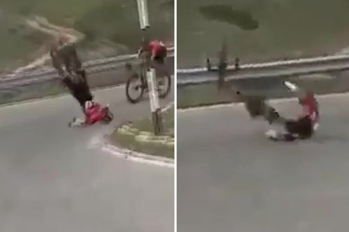 Horror moment Mohoric's bike snaps in two as racer crashes HEAD FIRST into road