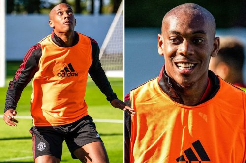 Man Utd star Anthony Martial unveils new look in training as he shaves off hair ahead of new season