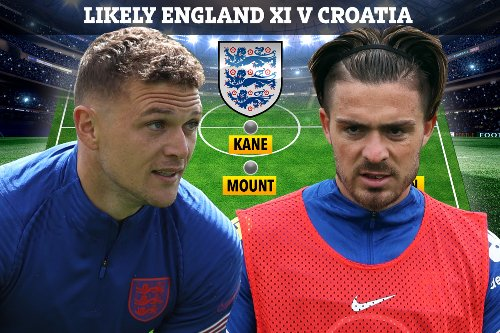 England team vs Croatia 'leaked' with Trippier at left-back and Grealish benched