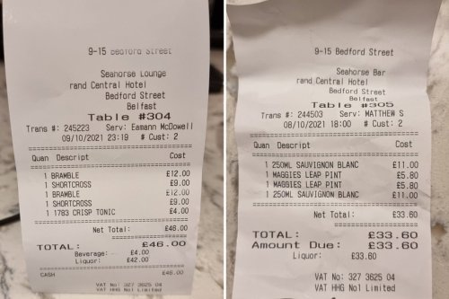 Punter gobsmacked at 'rip-off' £80 drinks bill - but others disagree