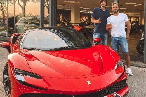 Aguero buys stunning new electric Ferrari.. despite having an unused Lamborghini