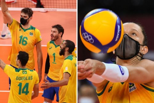 Why are some Brazil Olympic volleyball players playing in masks in Tokyo?