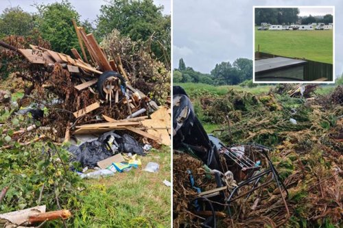 Locals blast travellers for 'ruining' quiet road with stinking piles of rubbish