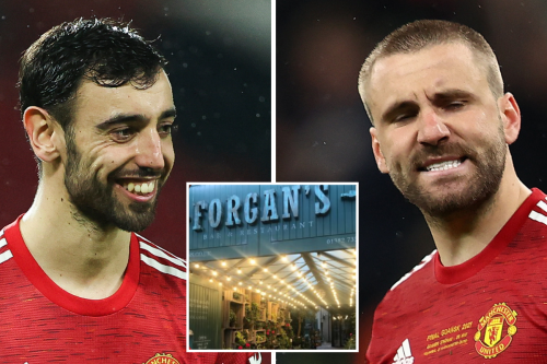 What Man Utd stars ordered in Dundee restaurant including Shaw's 'normal bread'