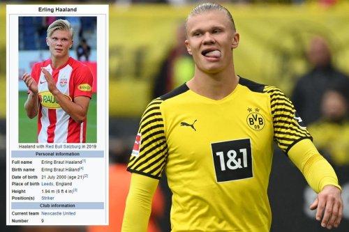 Newcastle in Haaland transfer hunt as fans change Dortmund star's Wikipedia