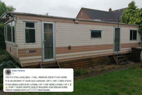 Mum posts brutally honest listing for £100 'monstrosity' of a caravan