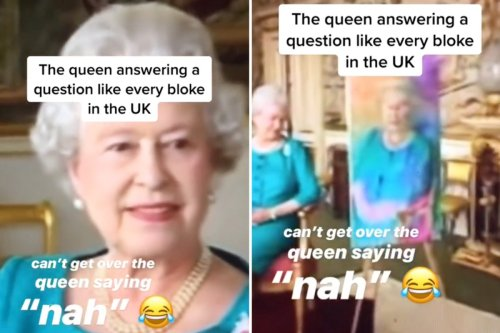 Royal fans left in hysterics at unearthed video of the Queen saying 'nah'